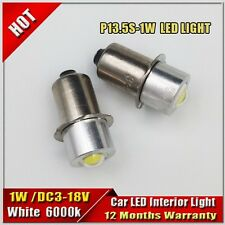 2pcs 1W  P13.5S Led Flashlight Replacement bulb 3V 6V 12V 18V Lantern Work Light