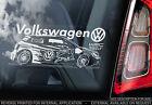 Volkwagen WRC - Car Sticker - VW Rally Team -Golf,Polo,Bora,GTI, Dub Performance