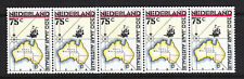 Netherlands 1988 Australian Settlements horizontal strip of five MNH