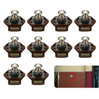 10x Mini Push Button Cupboard Door Knob Catch Lock Drawer Caravan Motorhome Boat