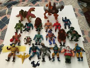 MOTU, He-Man figures lot vintage masters of the universe