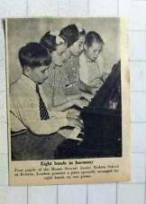 1956 4 Pupils Of Mount Stewart Junior Modern School Kenton London Practise Piano