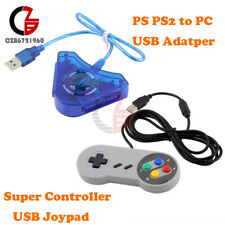 Dual PS PS2 To PC Game Controller Super Controller USB Joypad Converter Adapter