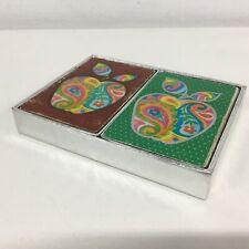 Vintage Congress Playing Cards Cel-u-tone Finish Apple Design Incomplete Set#413