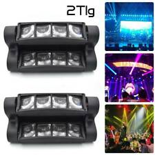 2x 80W RGBW LED Spider Moving Head Bühnenlicht Beam DMX512 BühnenbeleuchtungS6W9