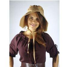 Mittelalter Baumwolle Haube Maid honigbraun  Magd Kopfbedeckung Damenhaube