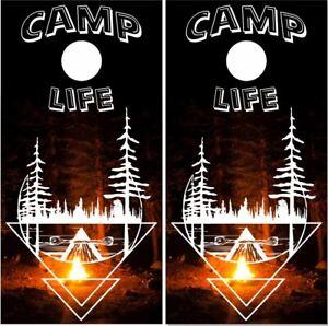 Camp Life Cornhole Wrap Bag Toss Skin Decal Sticker