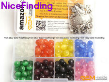 8mm Wholesale Cat Eye 8 Assorted Round Stone Beads Kits For Jewelry Making DIY