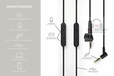 Plaqué or Câble Audio pour Bose AE2/AE2i/AE2w Casque Avec In-Line Remote