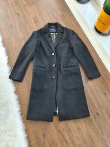 £1450 Burberry London Wool Laurent Cashmere Jacket M L Black Saint Coat Trench