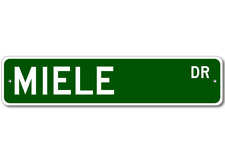 MIELE Street Sign - Personalized Last Name Sign
