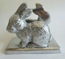 Vintage Easter Bunny Rabbit Letter Desk Organizer Or Napkin Holder Aluminum Cute