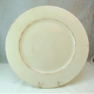 Pier 1 Italy TOSCANA IVORY Service Plate Charger Chop Platter(s)