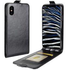 Apple iPhone X/Xs Handyhülle Flip Cover Schutzhülle Case Tasche Hülle schwarz