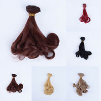 1pcs 15cm*100cm High-temperature Wire Wig Curly Hair For Doll 1/3 1/4 1/6 BJD E&