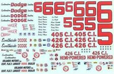 Plastic Performance Products #5/#6 Cotton Owens Dodge 1965-66 Nascar decal