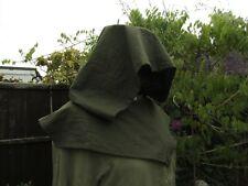 Assassin hood Gugel Medieval oversized hood khaki green LARP Archers Cosplay