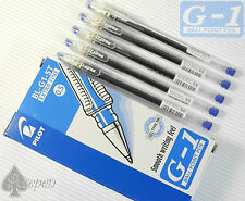 60pcs 5 boxes Pilot G-1 0.5mm extra fine roller ball pen  with cap Blue ink