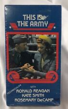 Brand New Sealed - This is the Army (VHS) RONALD REAGAN Rosemary DeCamp - Color