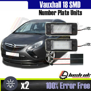 Vauxhall 18 LED Replacement Number Plate Units Opel Astra J Estate Zafira Tourer