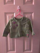 Infant Girl Naarjtie Cotton Button Up Baby green Jacket Size 3-6 Months