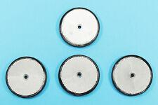 4x Katzenaugen Rückstrahler für Wohnwagen SCH 80 mm  silber  rund  Reflektoren