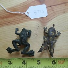 New listing Unknown Vintage rubber fishing lure frogs (lot#8773)