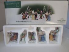 Dept 56 558410 Here We Come A Wassailing Set Of 5 Mint In Box D5