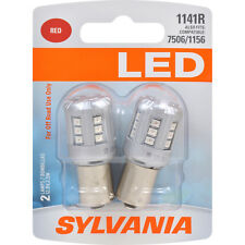 2-PK SYLVANIA 1141 Red LED Automotive Bulb - also fits 7506, 1156