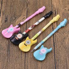 Random 4Pcs Guitar 0.38mm Black Gel Pen Childlike Multi-color Kawaii Stationery