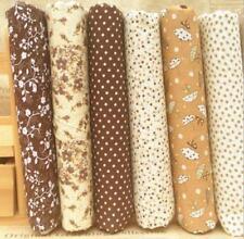 DIY Stoffpaket  Braun Quilt Stoffreste 6*( 25*25cm) Quadrate 100 % Baumwolle