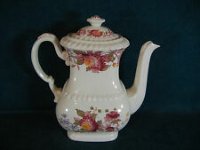 """Copeland Spode Spode's Aster Large 8 1/4"""" Coffee Pot with Lid"""