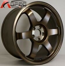 16X7 ROTA GRID WHEELS 5x114.3 SPORT BRONZE RIMS FITS 5 LUG CAMRY ACCORD MAZDA 3