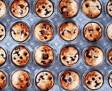 Fat Quarter Bake Sale Blueberry Muffin Cake Tin 100% Cotton Quilting Fabric