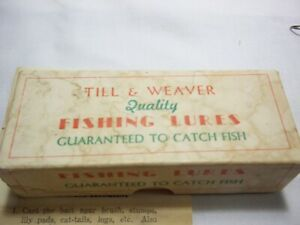 Till & Weaver Fishing lure in box and instructions
