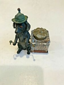 Vintage Dachshund Inkwell Cold Painted?