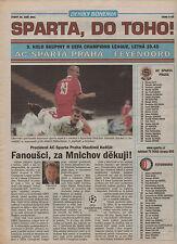 Orig.PRG   Champions League  01/02   SPARTA PRAG - FEYENOORD ROTTERDAM !! SELTEN