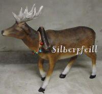 Rentier Elch Figur Skulptur Lebensgroß Weihnachten Tierfigur Gartenfigur Braun
