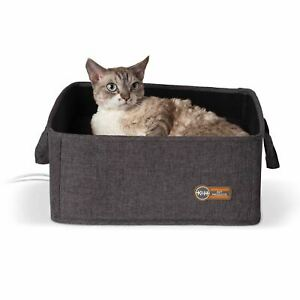 """K&H Pet Products Thermo-Basket Pet Bed Gray 15"""" x 15"""" x 6"""""""