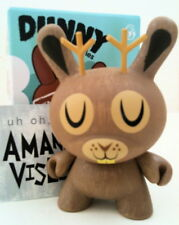 "Dunny 3"" Endangered Series Amanda Visell Jackalope Deer 2/20 Kidrobot Toy Figure"