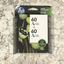 Hp 60 Tri Color Ink Cartridge Twin Pack New In Box Exp. 02/2020