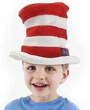 Cat in Hat Fleece Hat Dr. Seuss Fancy Dress Halloween Child Costume Accessory