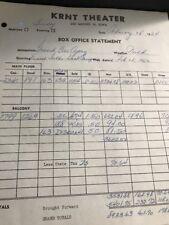 KRNT Theater Original Box Office Receipt- Ernest Tubb & Hank Thompson 1965