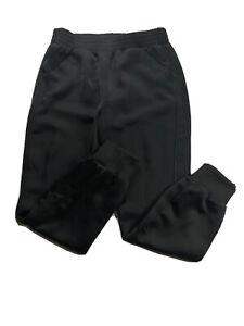 David Lerner Womens Satin Look Pants Leggings Women's Size Small Black