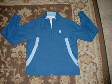 K SWISS WOMEN'S WINDBREAKER JACKET SIZE SMALL BLUE 7.0 SYSTEM