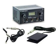 3in1 Tattoo Set Digital Netzteil Power Supply Fußpedal mit Clipcord Kabel N12-01