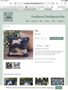 beth russell tapestry Kit - Pigs- started.....