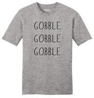 Mens Gobble Gobble Gobble Soft Tee Food Thanksgiving Holiday Shirt