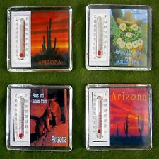 12 thermometer 2 inch Refrigerator Magnets Saguaro & Barrel Cacti & Prairie Dogs