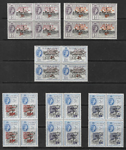 Sierra Leone 1963 QEII SG 257-259 Blocks of 4 Overprints Superb MNH